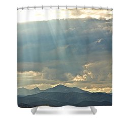 Shining Down Shower Curtain by James BO  Insogna