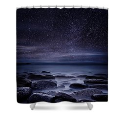 Shining In Darkness Shower Curtain
