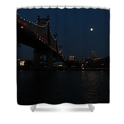 Shining Moon Shower Curtain by Catie Canetti