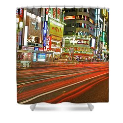 Shinjuku Neon Strikes Shower Curtain