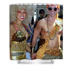 Shower Curtain featuring the photograph Shiny Happy People by Ed Weidman