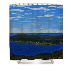 Ship Harbour From Sugarloaf Hill Shower Curtain by Barbara Griffin