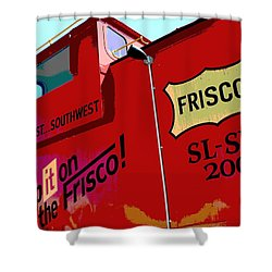 Ship It On The Frisco Shower Curtain by Deena Stoddard