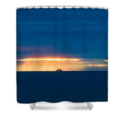 Ship On The Horizon Shower Curtain