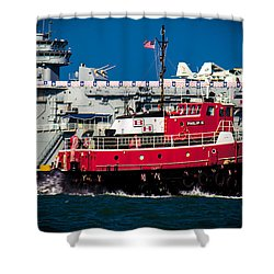 Shower Curtain featuring the photograph Shipping Lane Hero by Bartz Johnson