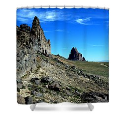 Shower Curtain featuring the photograph Shiprock by Alan Socolik