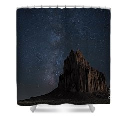 Shiprock Shower Curtain by Keith Kapple