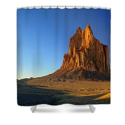 Shiprock Sunset Shower Curtain