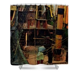 Ship's Carpenter Shower Curtain