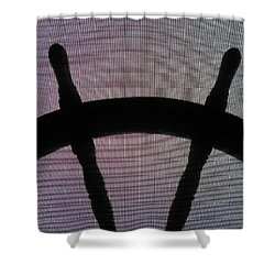 Ships Wheel Clam Chowder For Lunch Shower Curtain