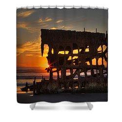 Shipwreck Sunburst Shower Curtain