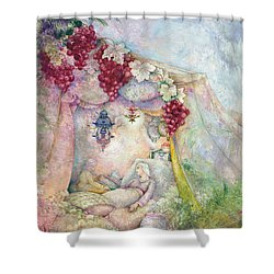 Shir Hamalot Shower Curtain by Michoel Muchnik