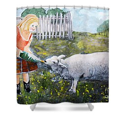 Shirley And Curly Shower Curtain by Barbara McMahon