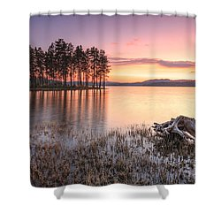 Shiroka Polyana Lake  Shower Curtain by Evgeni Dinev