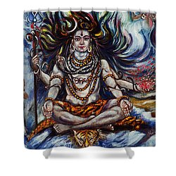 Shiva - Ganga - Harsh Malik Shower Curtain