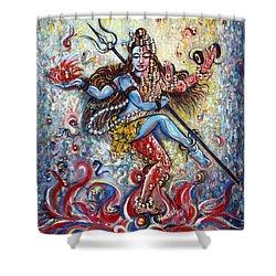 Shiv Shakti Shower Curtain