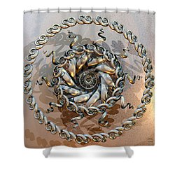 Shiva Ascending Shower Curtain by Manny Lorenzo