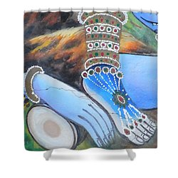 Shiva - Durga Shower Curtain