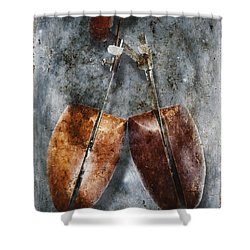 Shoe Trees Shower Curtain by Skip Nall