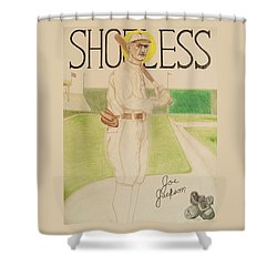 Shower Curtain featuring the painting Shoeless Joe Jackson by Rand Swift
