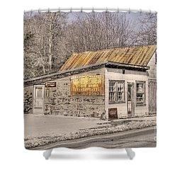 Shoemaker's Garage Shower Curtain by Benanne Stiens