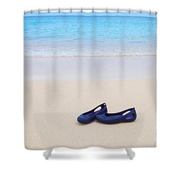Shoes In Paradise Shower Curtain