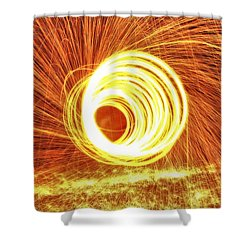 Shooting Sparks Shower Curtain by Dan Sproul