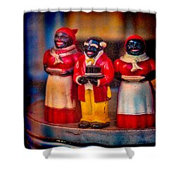 Shower Curtain featuring the photograph Shop Window Trio by Chris Lord