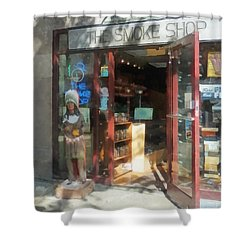 Shopfronts - Smoke Shop Shower Curtain by Susan Savad
