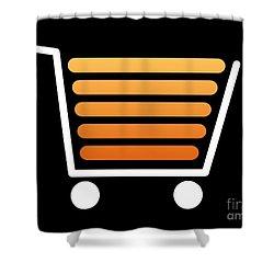 Shopping Cart White Shower Curtain by Henrik Lehnerer