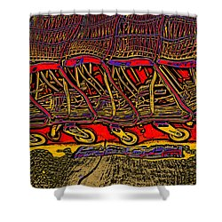Shopping Carts Shower Curtain