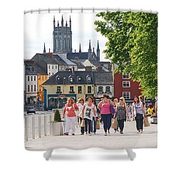 Shopping Trip Shower Curtain by Mary Carol Story
