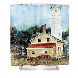 Shore Beacon Shower Curtain