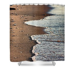 Shore Shower Curtain by Bruce Patrick Smith