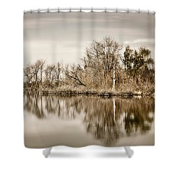 Shower Curtain featuring the photograph Shoreline 1 by Greg Jackson