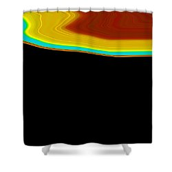 Shoreline I  C2014 Shower Curtain