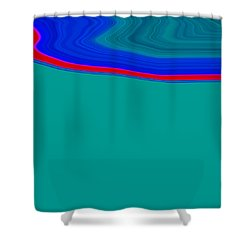 Shower Curtain featuring the painting Shoreline II C2014 by Paul Ashby