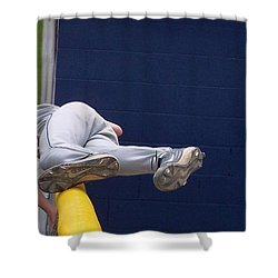 Short Cut Over The Fence Shower Curtain by Thomas Woolworth