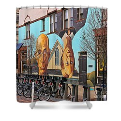 Short North Mural 4673 Shower Curtain by Jack Schultz