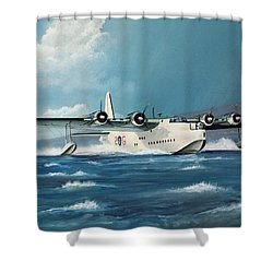 Short Sunderland Shower Curtain by Richard Wheatland