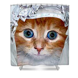 Shotgun Bride  Cats In Hats Shower Curtain