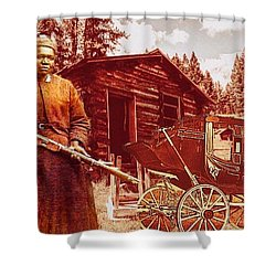 Shotgun Mary Shower Curtain