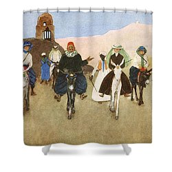 Should Women Ride Astride?, From The Shower Curtain by Lance Thackeray