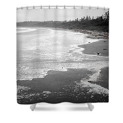 Winter At Wickaninnish Beach Shower Curtain
