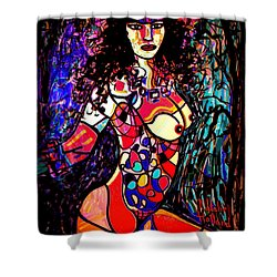 Show Off Shower Curtain by Natalie Holland