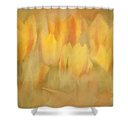 Showtime Tulips Shower Curtain by Linda Blair
