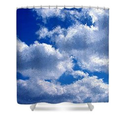 Shredded Clouds Shower Curtain