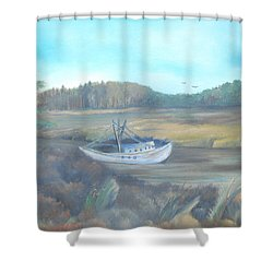 Shrimp Boat Shower Curtain