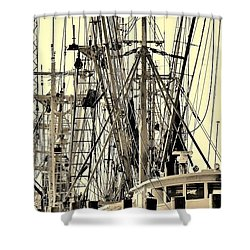 Shower Curtain featuring the photograph Shrimp Boat by Debra Forand