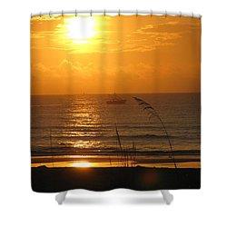 Shrimp Boat Sunrise Shower Curtain